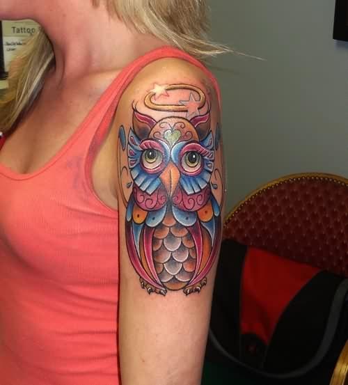 60+ Fantastic Owl Tattoos On Sleeve