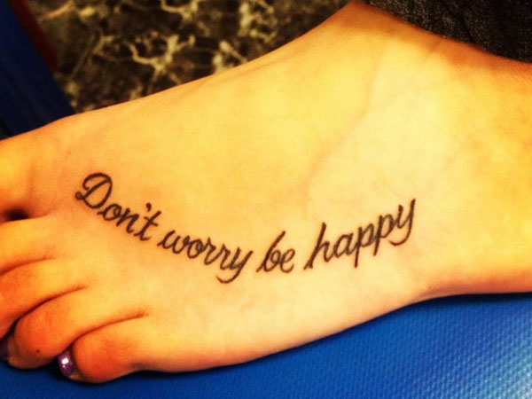 tattoo quotes for girls on foot - photo #12