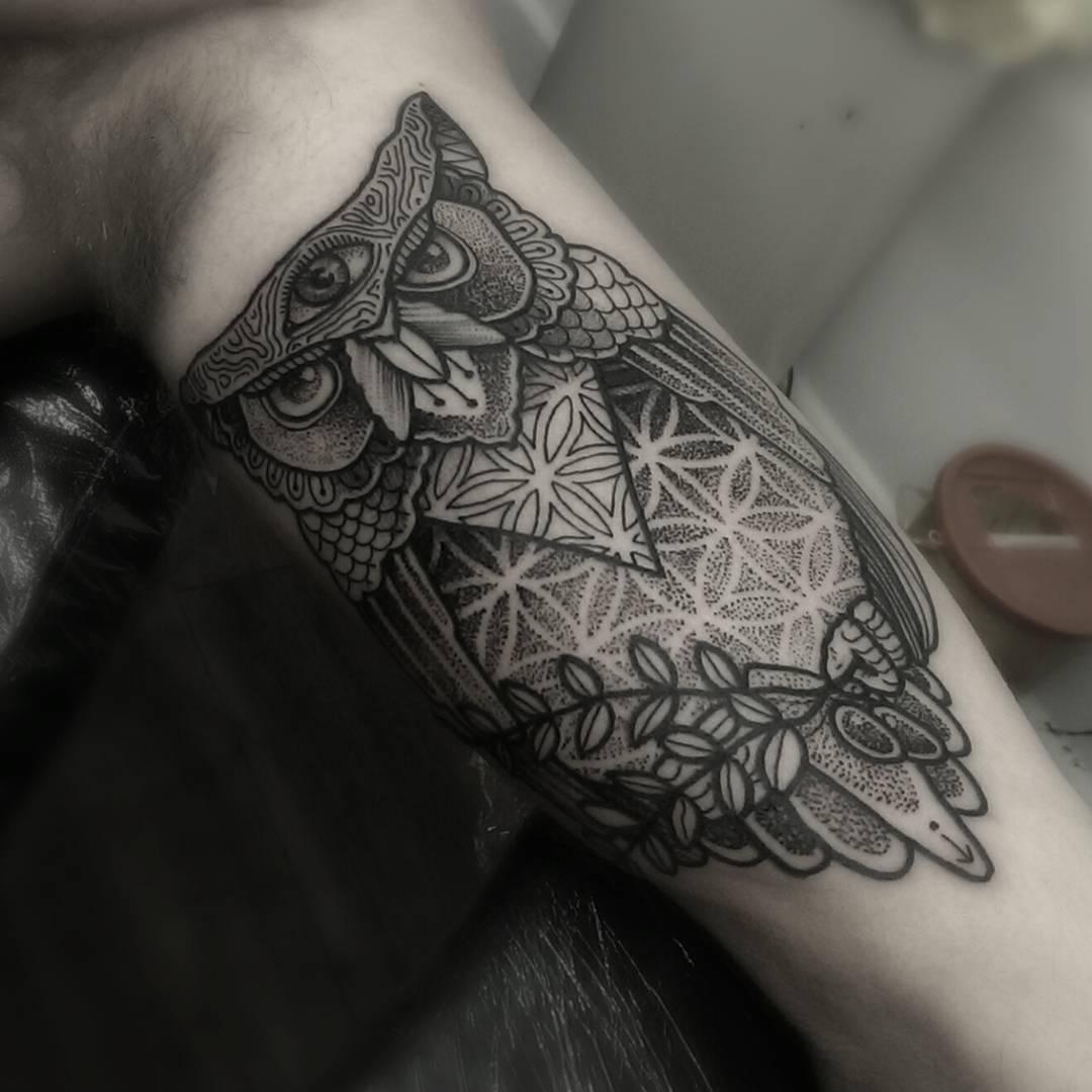51 owl tattoos on arm for Owl tattoo designs