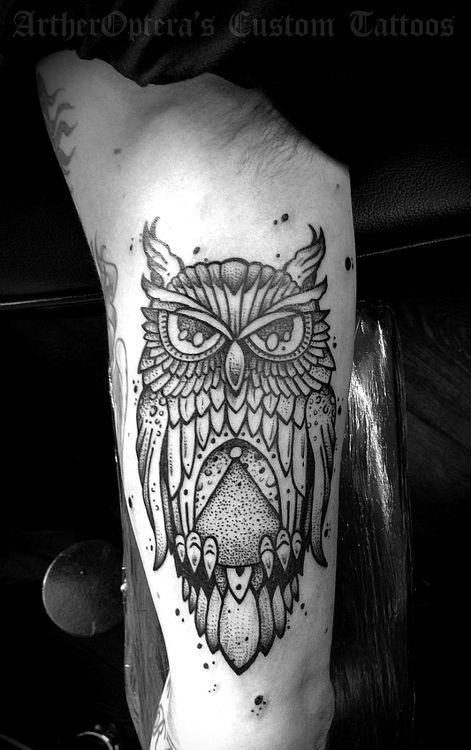 51 owl tattoos on arm. Black Bedroom Furniture Sets. Home Design Ideas