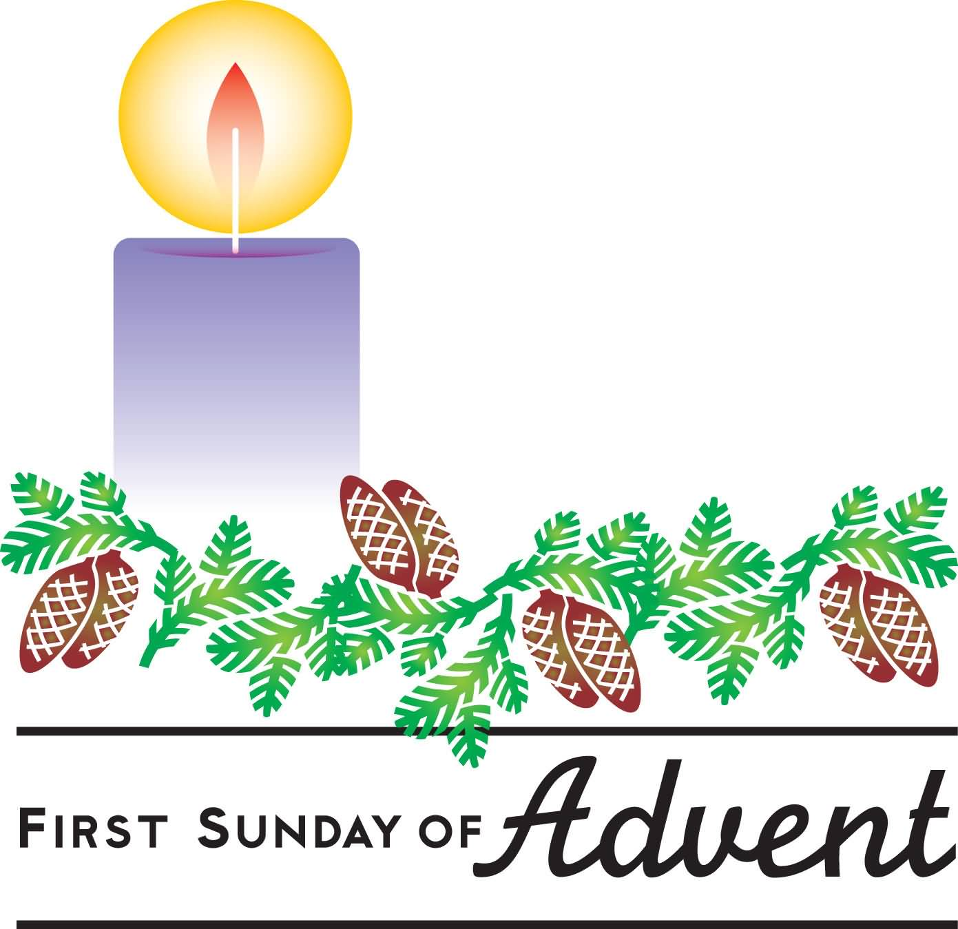 first sunday of advent candle clipart. Black Bedroom Furniture Sets. Home Design Ideas