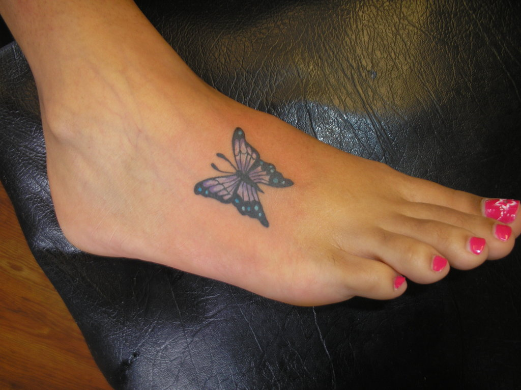 60 Butterfly Foot Tattoos Ideas