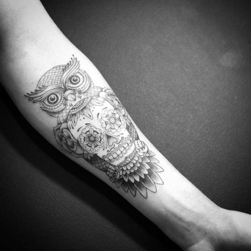 52 owl tattoos collection for men. Black Bedroom Furniture Sets. Home Design Ideas