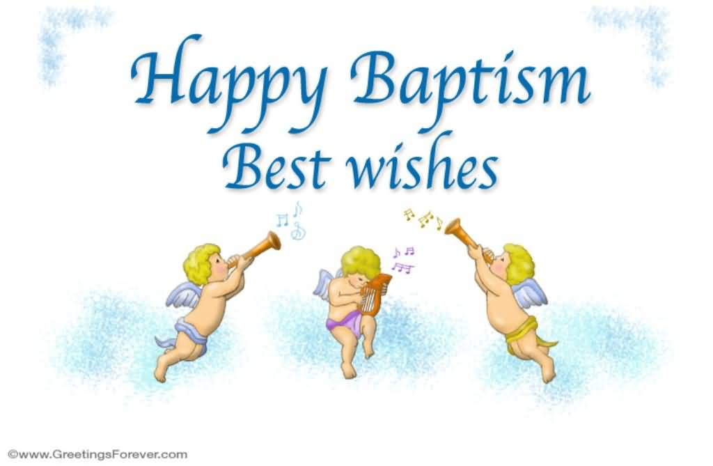 35 best baptism wish pictures and images happy baptism best wishes three cupid cherubs picture m4hsunfo