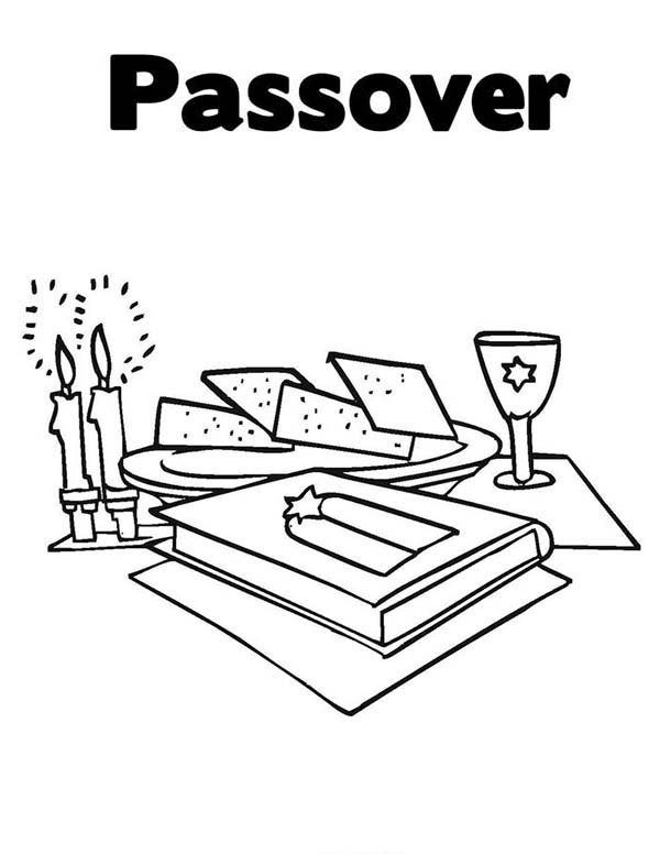 Happy Passover Day To All Coloring Page