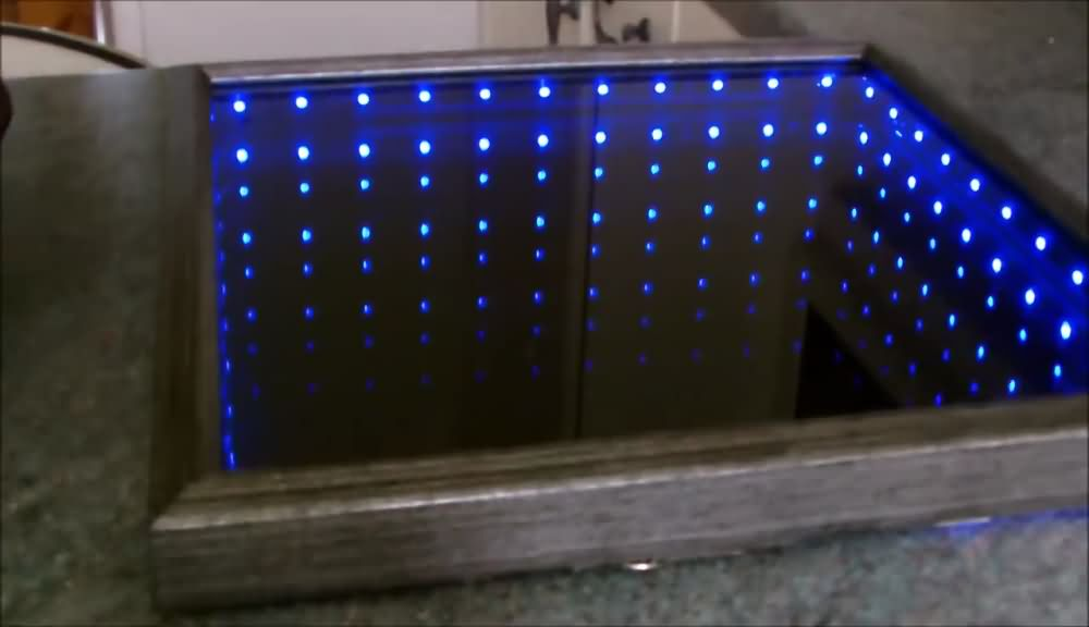 How To Make 3D LED Infinity Mirror (14)