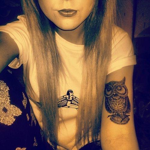 Upper Arm Tattoo Woman: 51+ Owl Tattoos On Arm