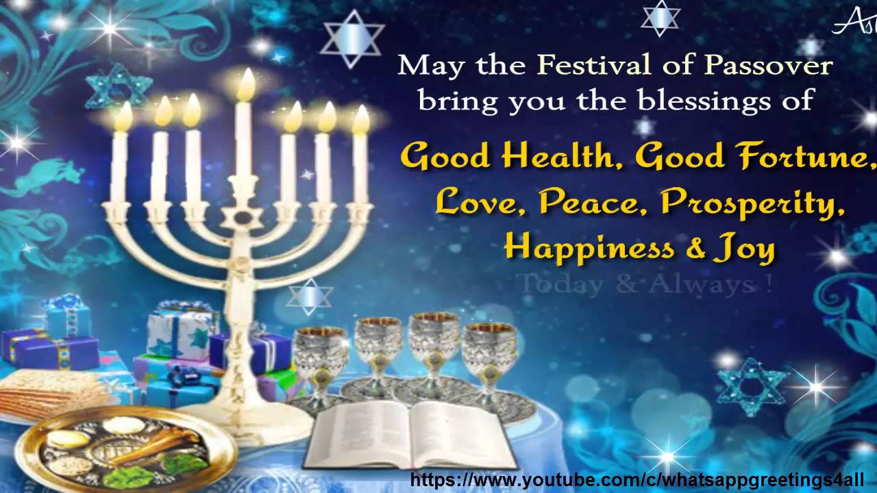 50 beautiful passover greeting pictures and images may the festive of passover bring you the blessings of good health good fortune m4hsunfo Image collections