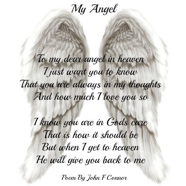 Genial My Angel   To My Dear Angel In Heaven I Just Want You To Know That