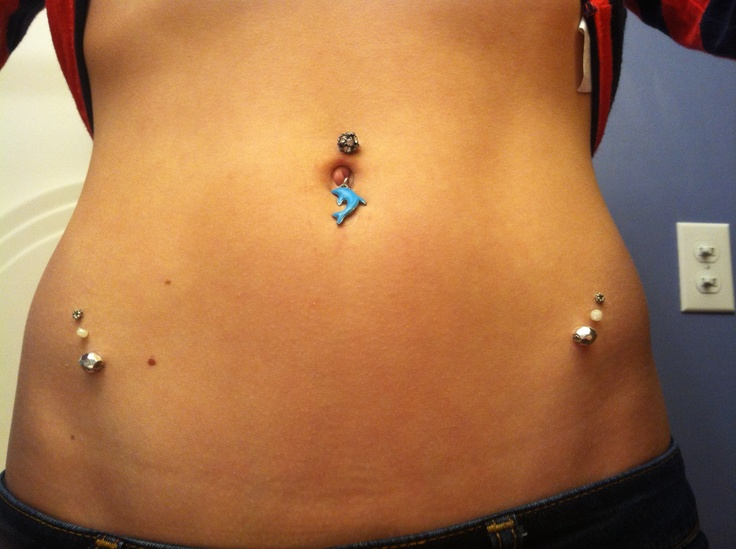 naked babes with belly rings