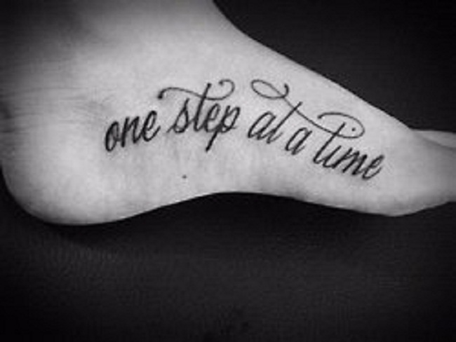 Inspirational Tattoo Words Ideas: 50+ Latest Foot Quotes Tattoos