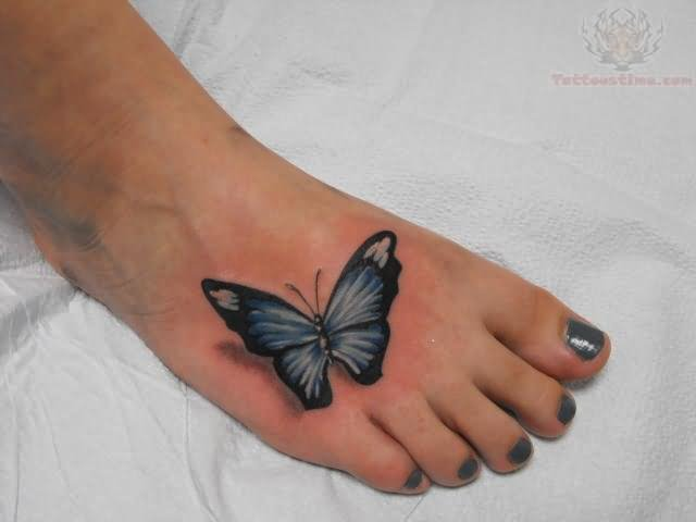 60 Butterfly Foot Tattoos Ideas