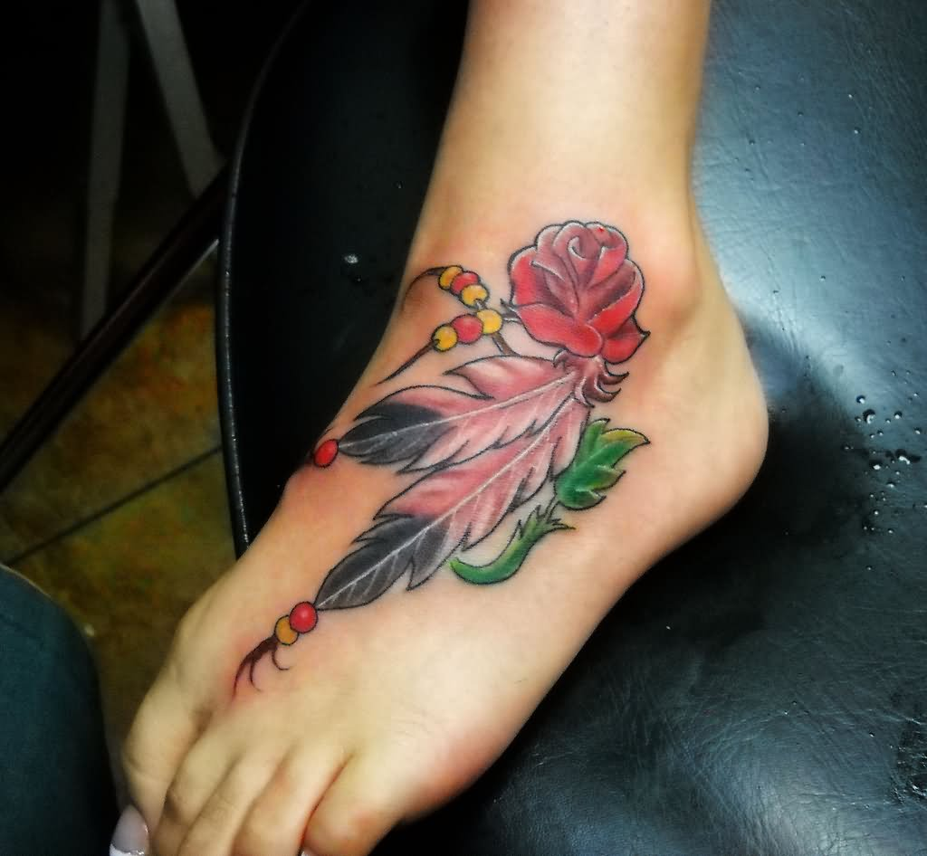 Ideas And Designs For Girls: 42+ Indian Feather Ankle Tattoos