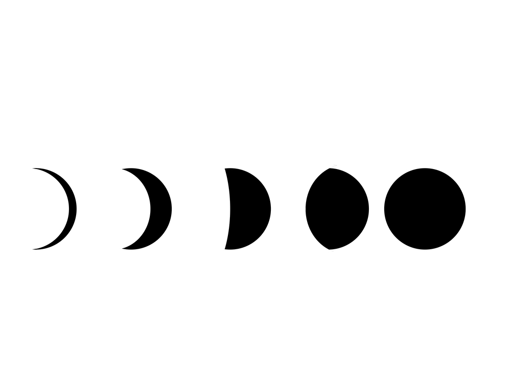 Tattoo Stencils Printable Moon: 54+ Small Phases Of The Moon Tattoos