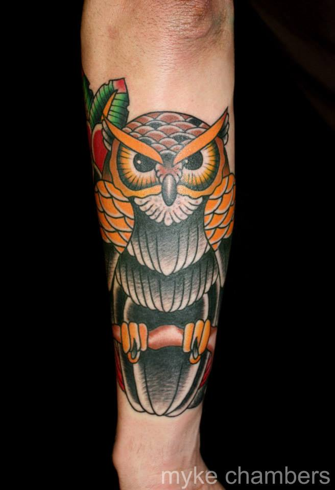 55+ Traditional Owl Tattoos Ideas