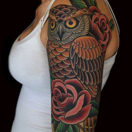 Owl Tattoos Designs Ideas And Meaning: 60+ Fantastic Owl Tattoos On Sleeve