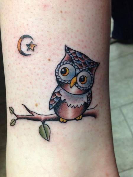 50 small owl tattoos collection rh askideas com cute cartoon owl tattoos Cute Cartoon Owls
