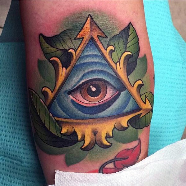 62 Traditional Eye Tattoo Ideas And Designs About Eyes: 40+ Triangle Eye Tattoos Collection