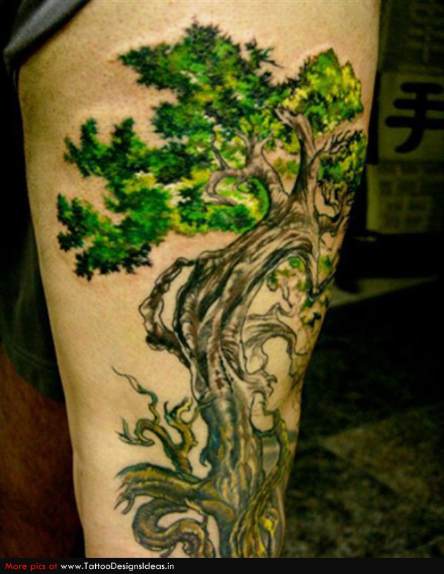 20 tree of life tattoos on leg. Black Bedroom Furniture Sets. Home Design Ideas