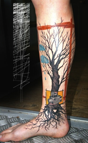 20+ Tree Of Life Tattoos On Leg