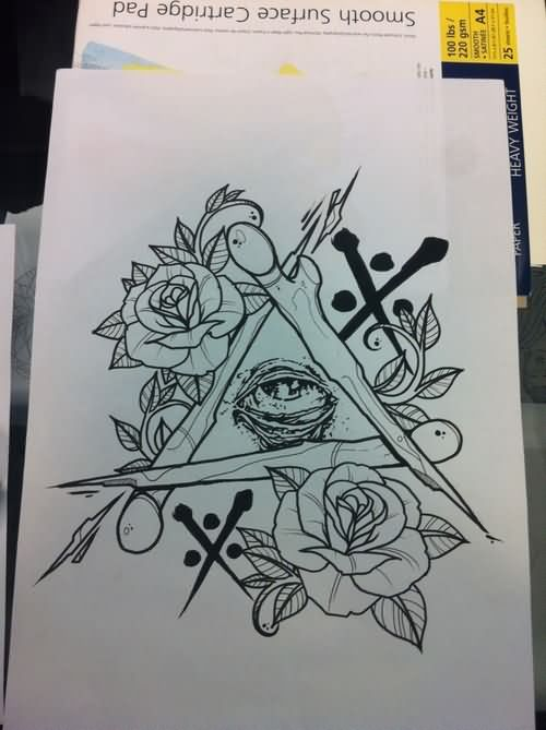 18 Triangle Eye Tattoo Designs