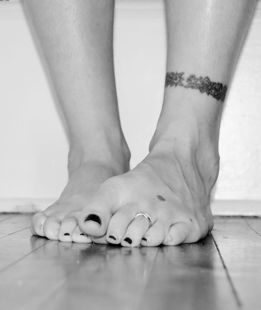 Tribal Ankle Band Tattoo For Girls