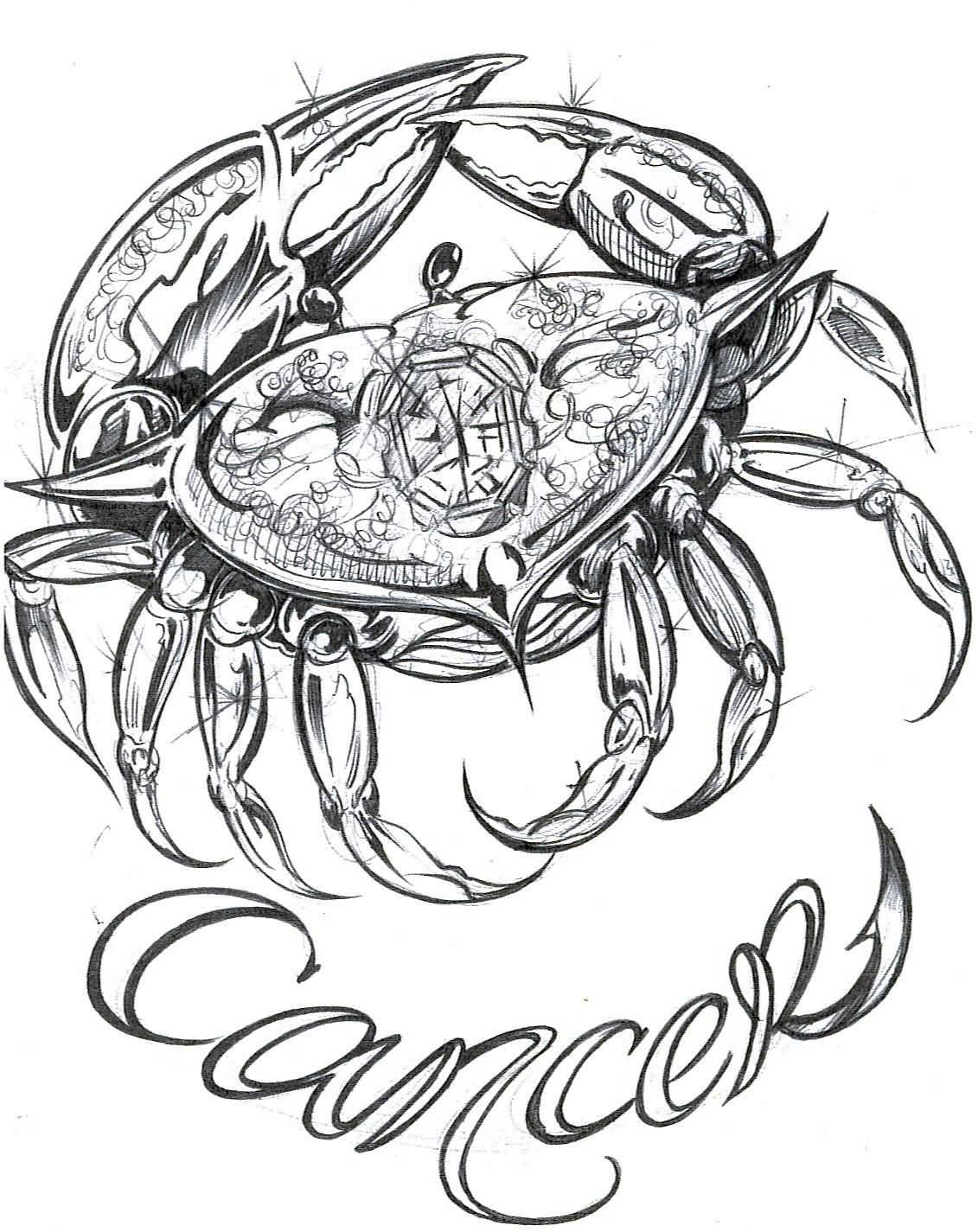70 cancer zodiac sign tattoos collection unique black tribal cancer zodiac sign tattoo design biocorpaavc Images