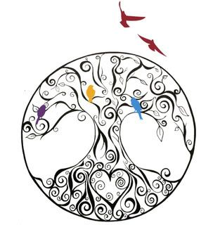 40 tree of life tattoos with birds for Family of birds tattoo