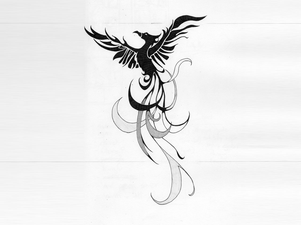 55 phoenix bird tattoos and designs. Black Bedroom Furniture Sets. Home Design Ideas