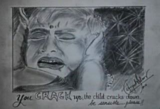 you crack up the child cracks down….be sensible