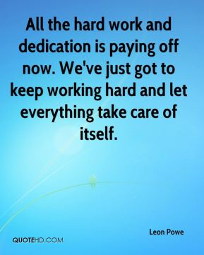 hard work and dedication essays