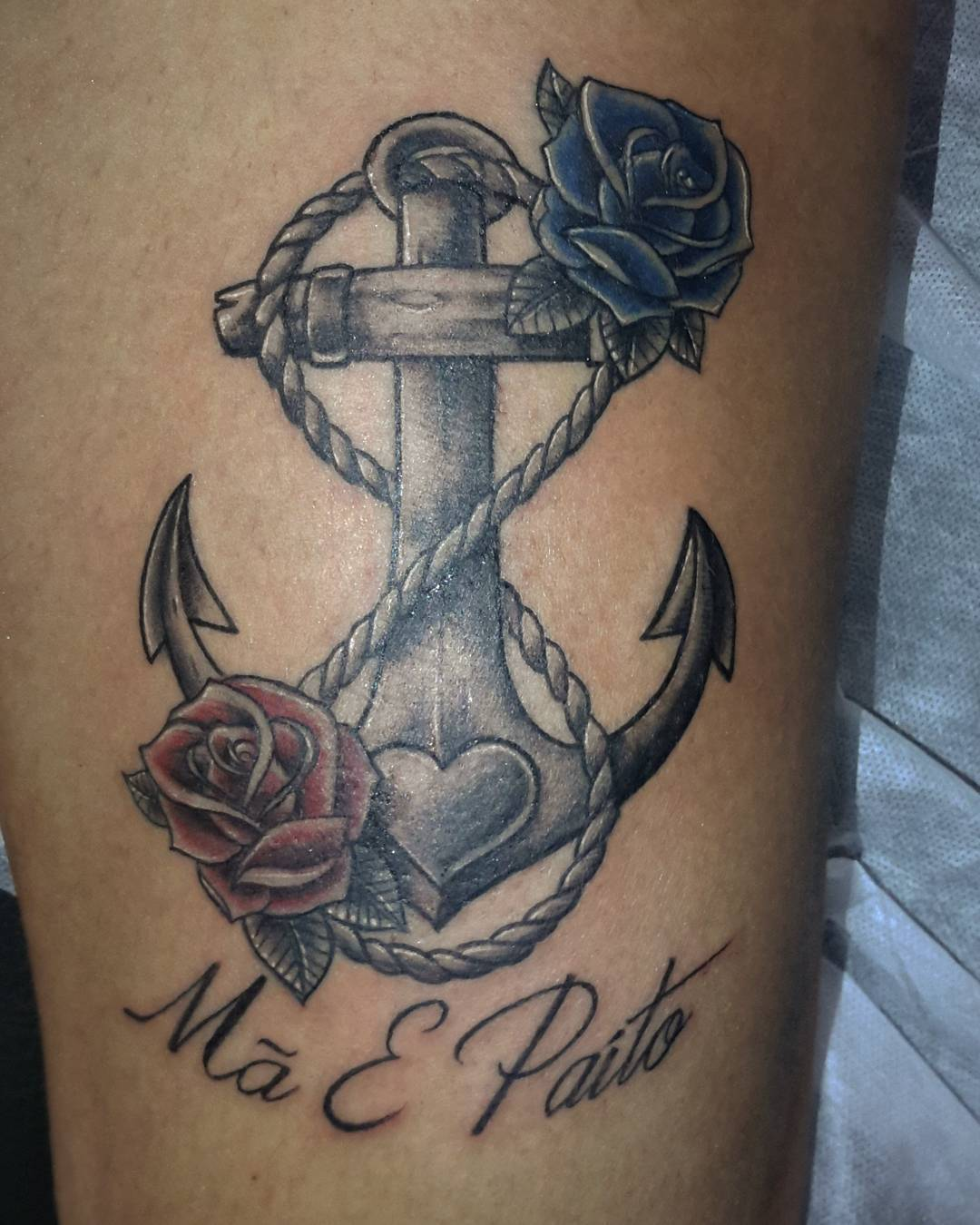 50 best anchor rose tattoos collection attractive anchor with roses tattoo design for half sleeve by bex buycottarizona Images
