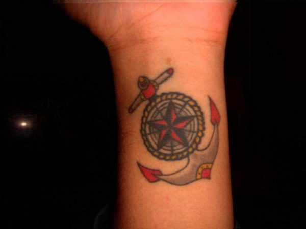 48 best anchor compass tattoos. Black Bedroom Furniture Sets. Home Design Ideas