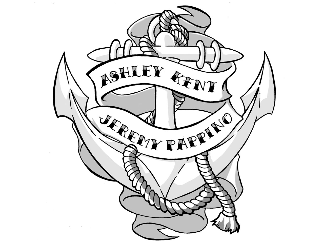 24 Anchor With Banner Tattoos Designs