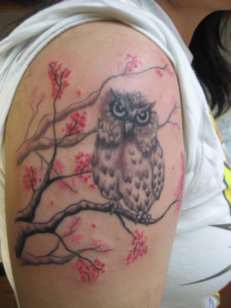 52+ Owl Tree Tattoos Ideas