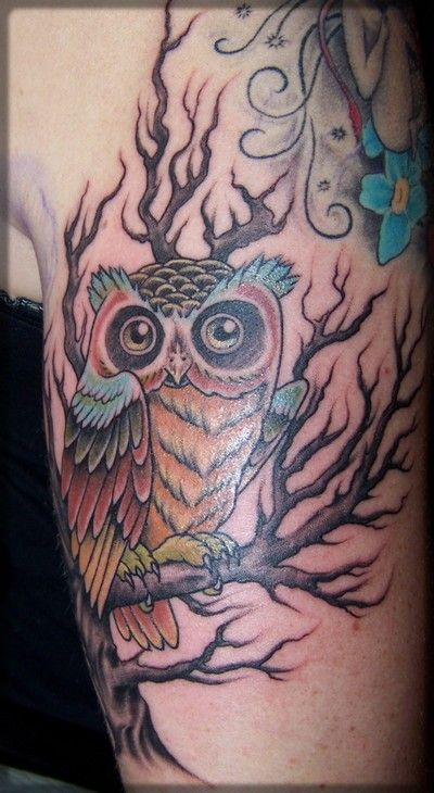 52 owl tree tattoos ideas. Black Bedroom Furniture Sets. Home Design Ideas