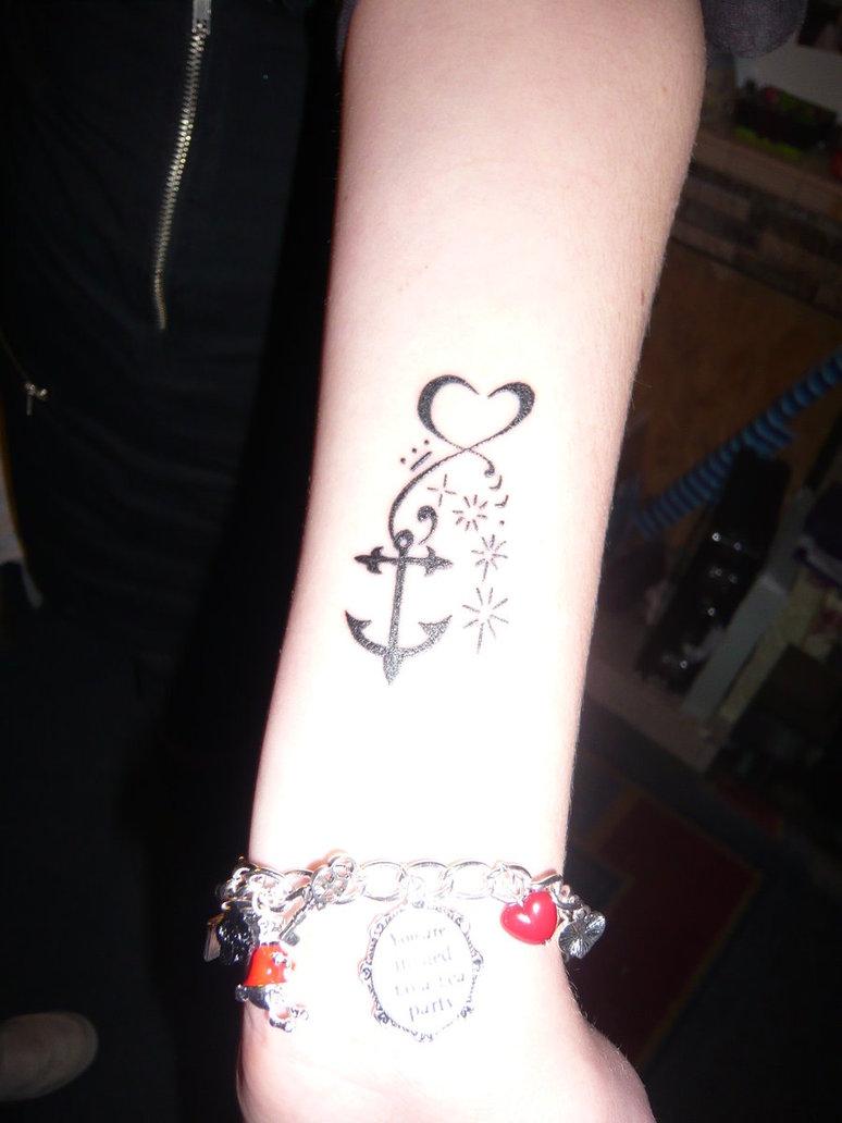 ec744b47d Black Anchor Tattoo On Women Wrist