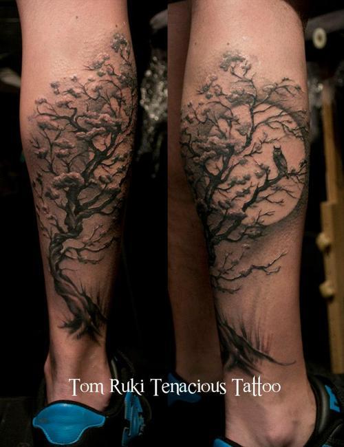 52 owl tree tattoos ideas rh askideas com owl family tree tattoo Owl Skull Tattoo