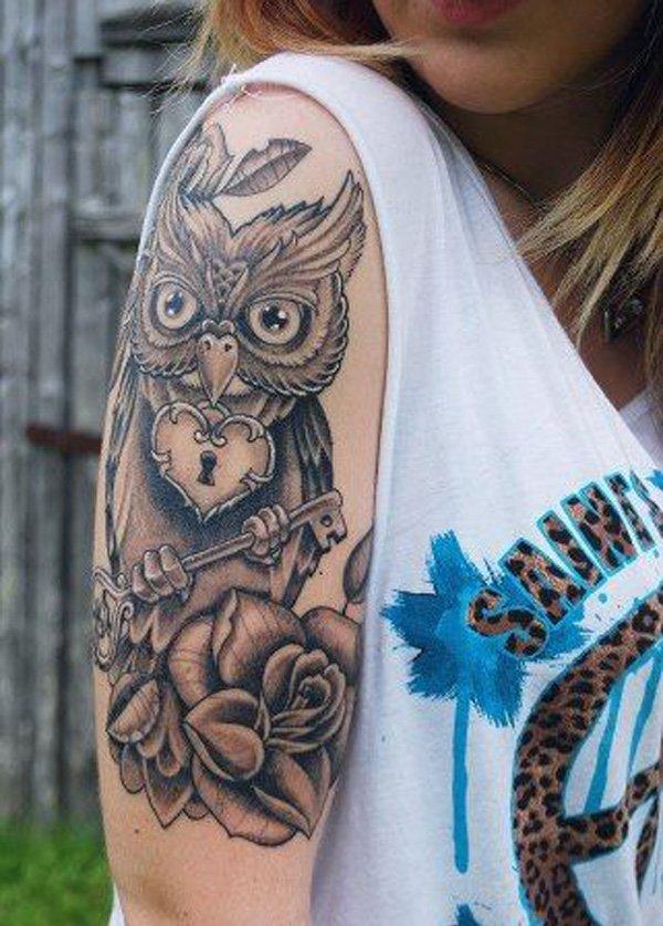 Owl Sleeve Tattoo: 42+ Owl Tattoos Ideas For Females