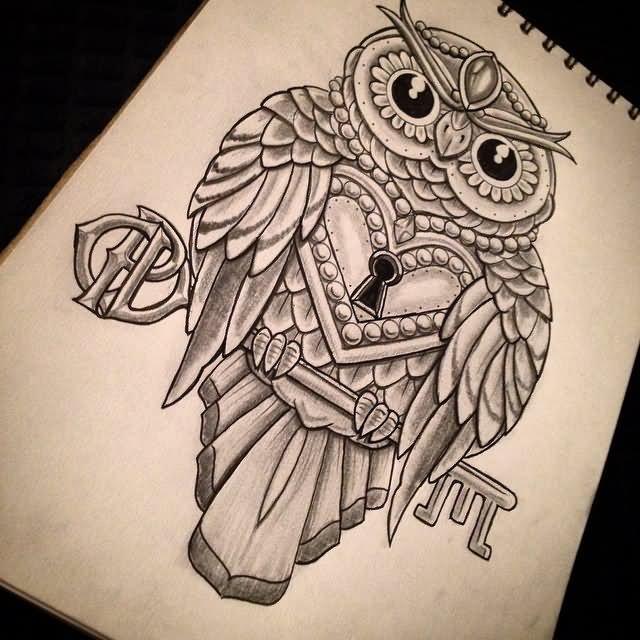 44+ Amazing Owl Lock Tattoos