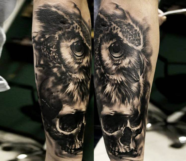 57 Latest Black Owl Tattoos Ideas