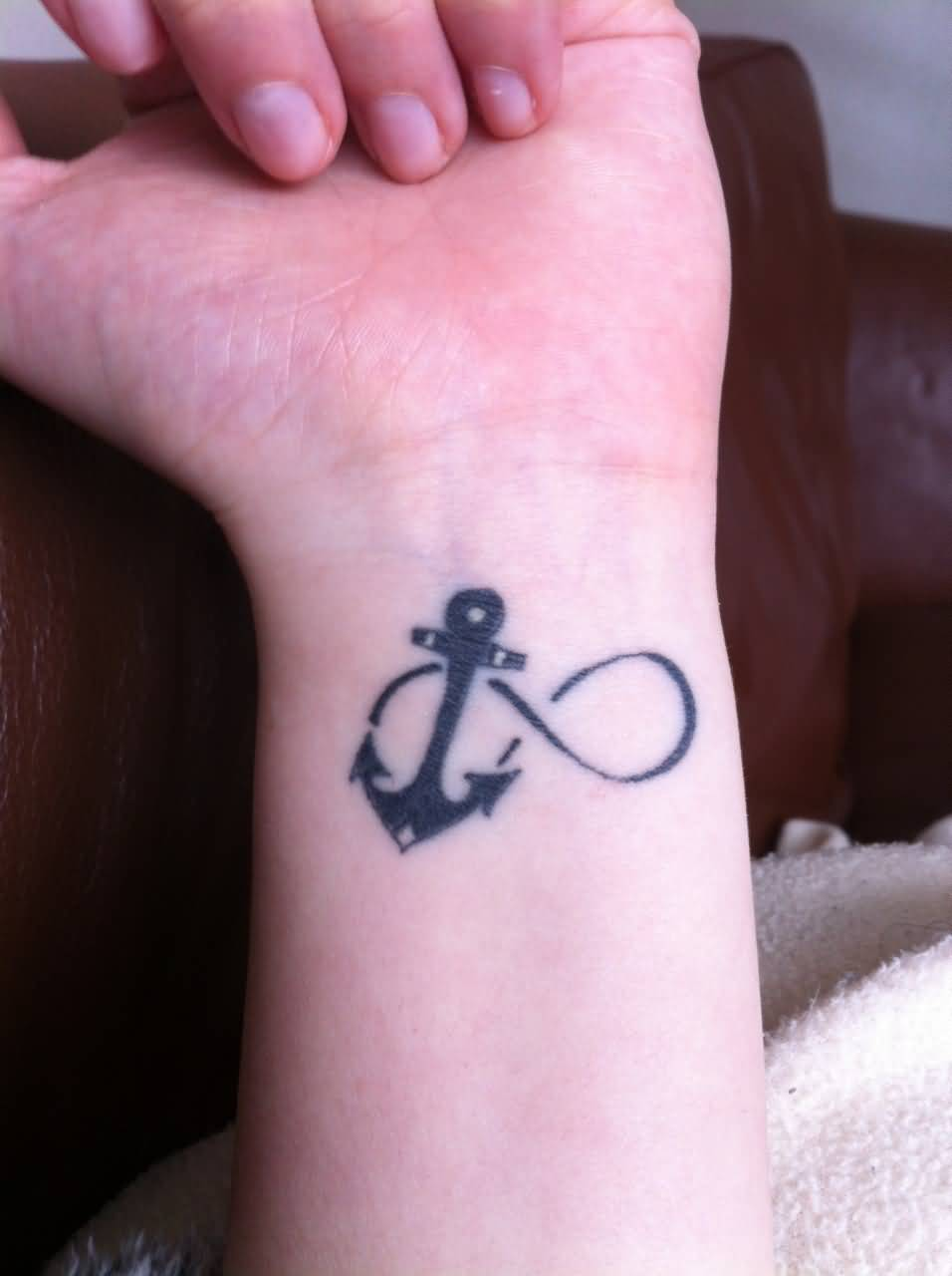 59 infinity anchor tattoos ideas black ink infinity with anchor tattoo on left wrist buycottarizona Images