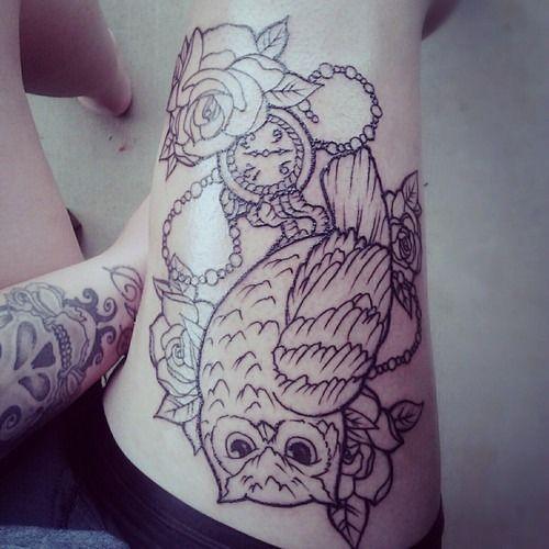 43 owl pocket watch tattoo. Black Bedroom Furniture Sets. Home Design Ideas