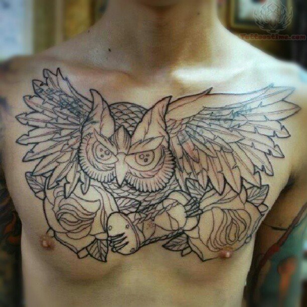 40 fantastic owl hourglass tattoos. Black Bedroom Furniture Sets. Home Design Ideas