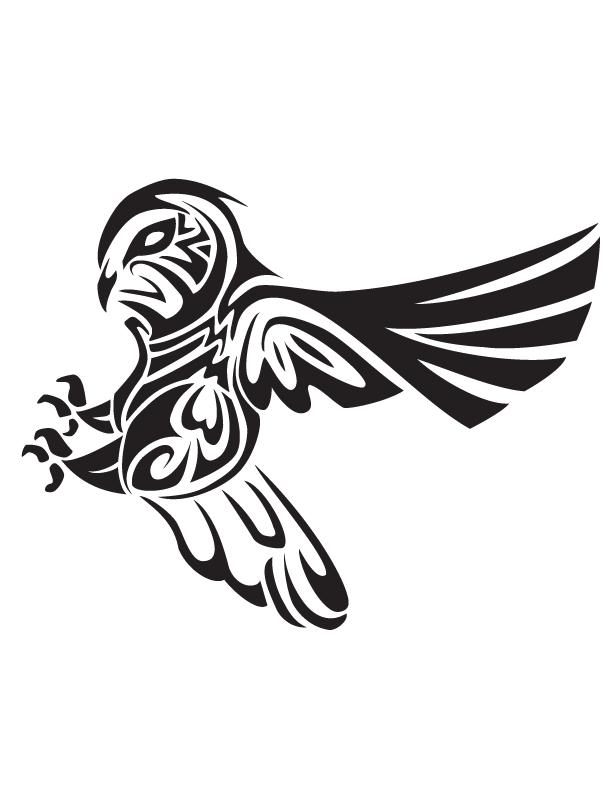 Flying owl stencil - photo#9