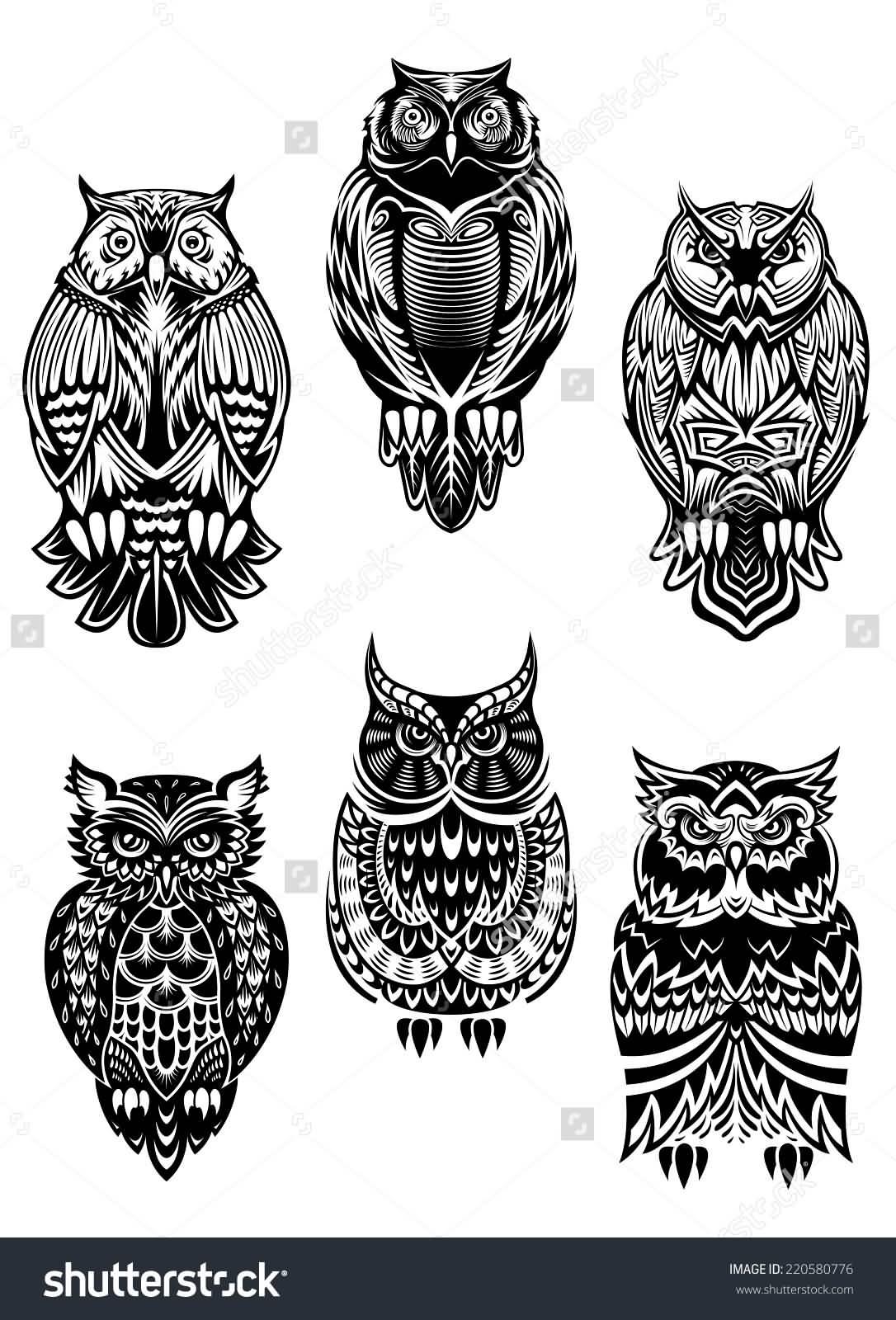 30 Tribal Owl Tattoos Ideas