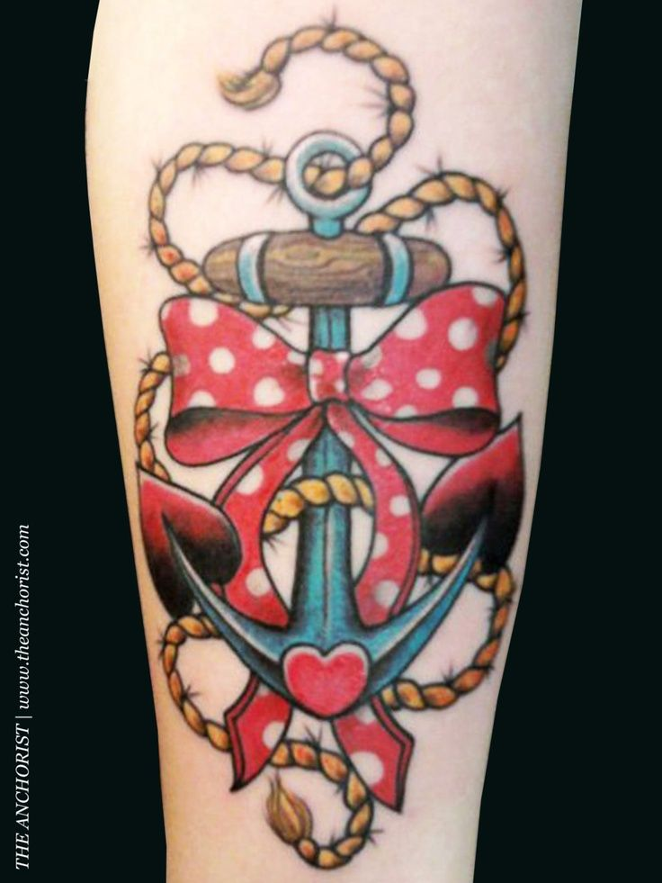 50 cute anchor bow tattoos collection for Cute bow tattoos