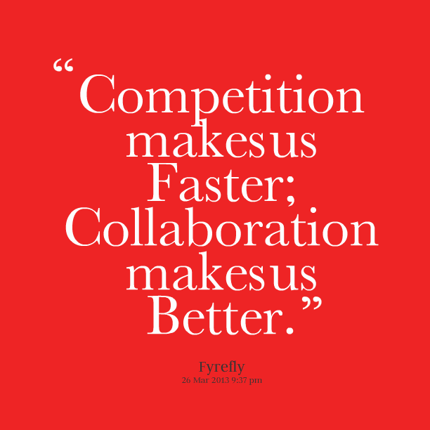competition good bad A little friendly competition with your co-workers can be the source of motivation you need to achieve great heights it's also often a natural impulse.