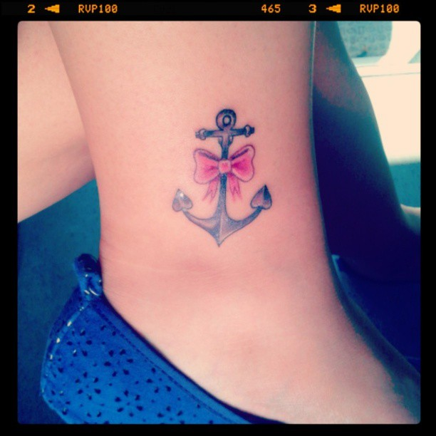 50+ Cute Anchor Bow Tattoos Collection