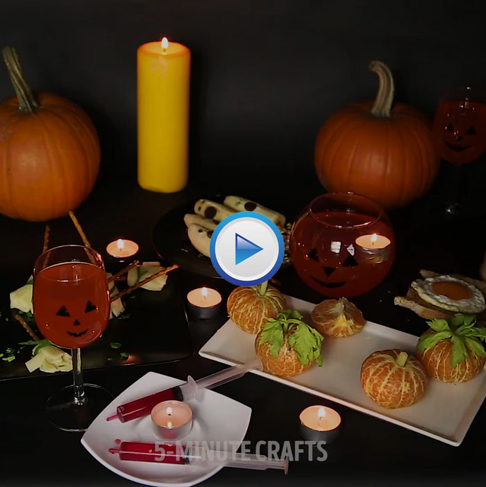 Creative ideas for Halloween treats.